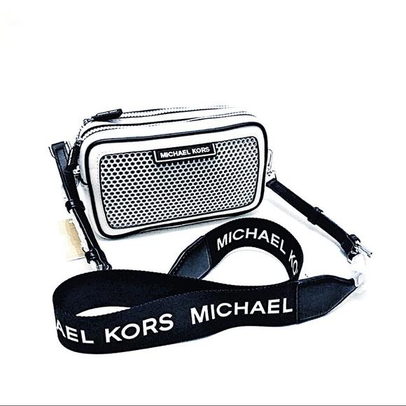 Michael-Kors-Sport-Danika-Optic-White-Black-Net-Small-Camera-Top-Zip-Bag