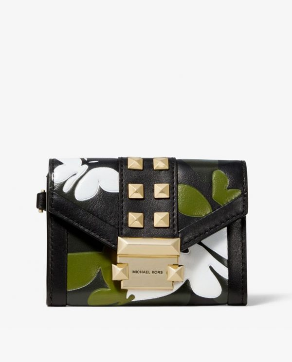 Michael-Kors-Whitney-Small-Butterfly-Camo-Leather-Chain-Wallet-front