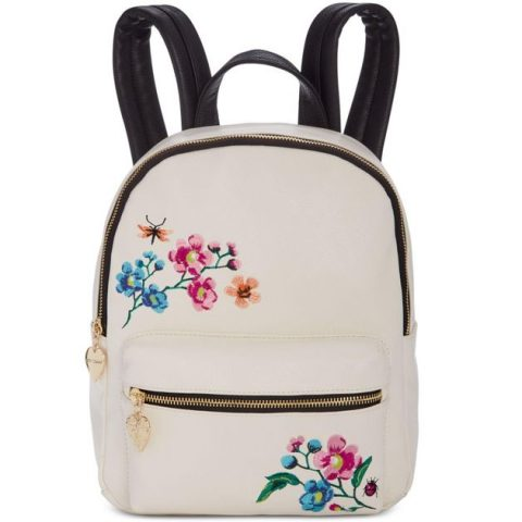 betsey-johnson-White-Embroidery-Backpack