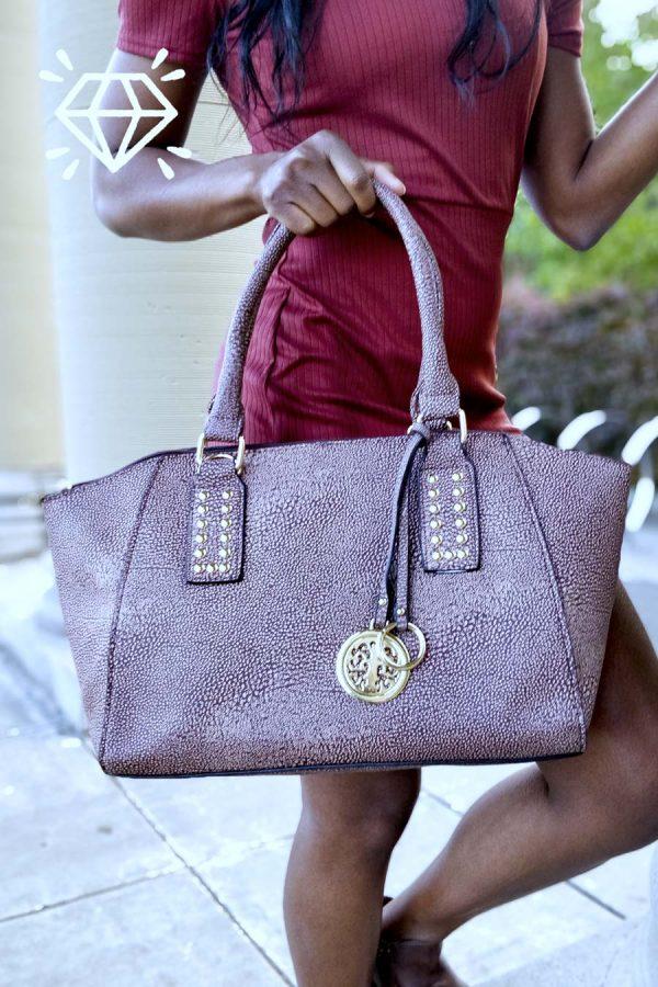 luxury vegan leather handbags dorado