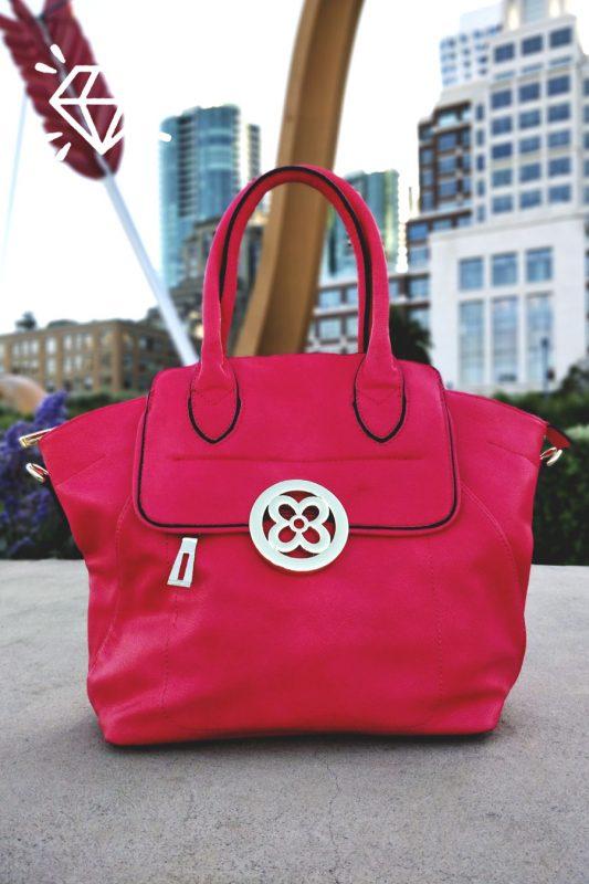 Luxury Vegan Soft Leather Handbag Luxurious Pink