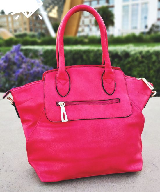 Luxury Vegan Soft Leather Handbag Luxurious Pink