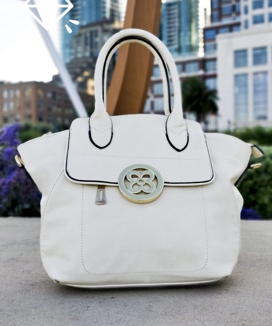 Luxury Vegan Leather Handbag Luxury White