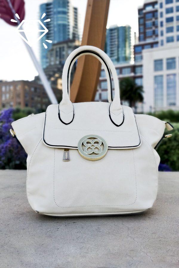 Luxury Vegan Leather Handbag Luxury White