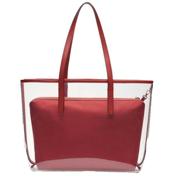 DKNY-Brayden-Transparent-Tote-Red Back