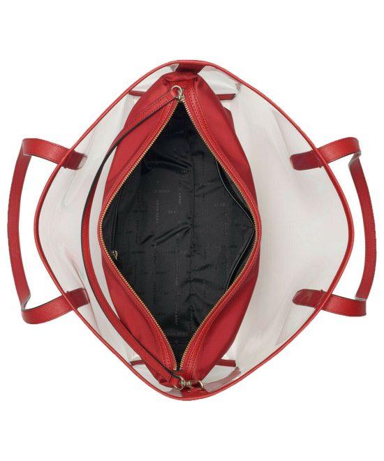 DKNY-Brayden-Transparent-Tote-Red Interior