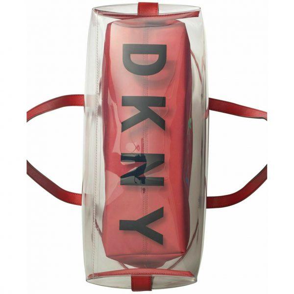 DKNY-Brayden-Transparent-Tote-Red Bottom Logo