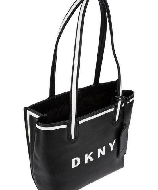 DKNY-Jade-Black-Logo-Tote-ShopBrightSF