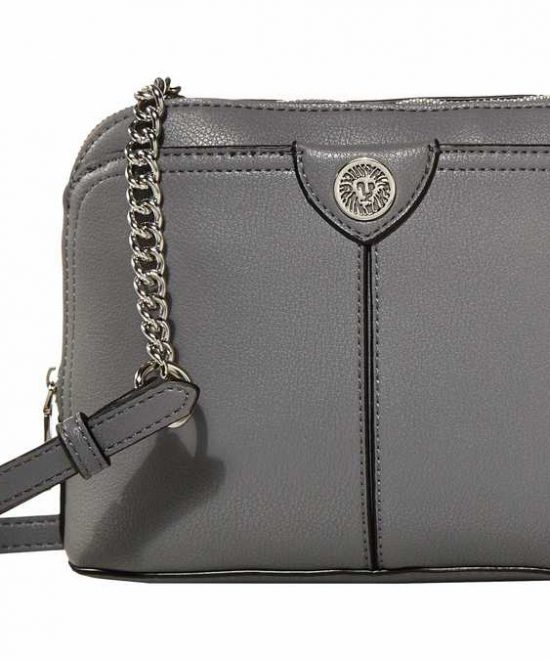 Anne Klein On The Go Crossbody Front Graphite